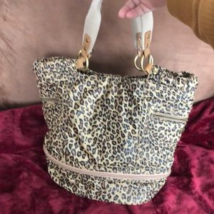Nine West leopard carrying bag with coin purse